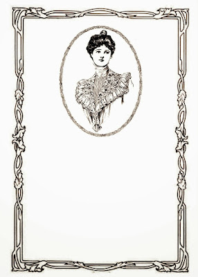Antique Cameo Button and a Free Image of Edwardian Women