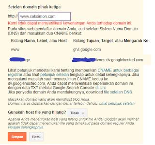 cara memverifikasi kewenangan anda terhadap domain ini