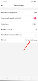 How to change the language in the Mangatoon app