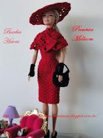 Vestido de Barbie Havai em crochê por Pecunia MM