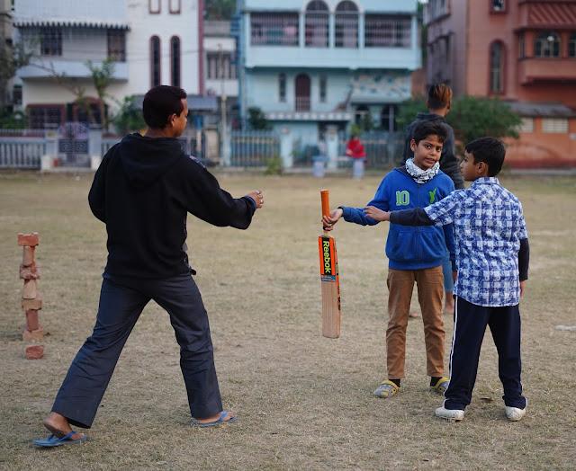 Nephew Rick Playing Cricket 2