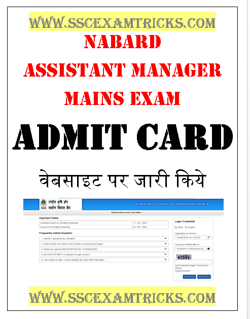 NABARD Development Assistant Mains Call Letter
