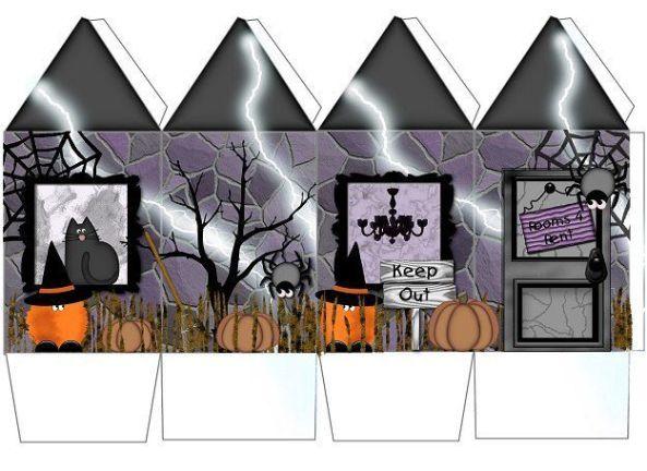 caja halloween forma rectangular con fondo gris