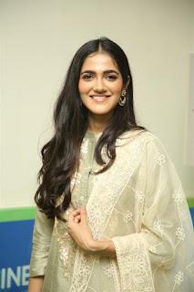 Indian Model Simran Chowdary in Sandal Color Churidar Dress at Sehari Movie Launch Function (9)