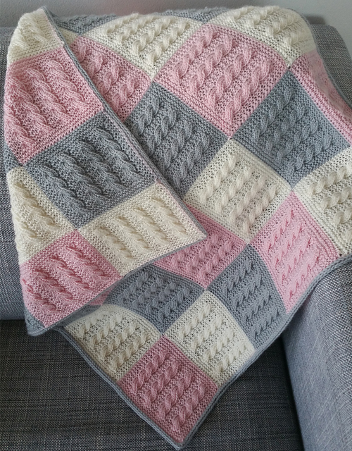 Cable Square Blanked - Knitting Pattern