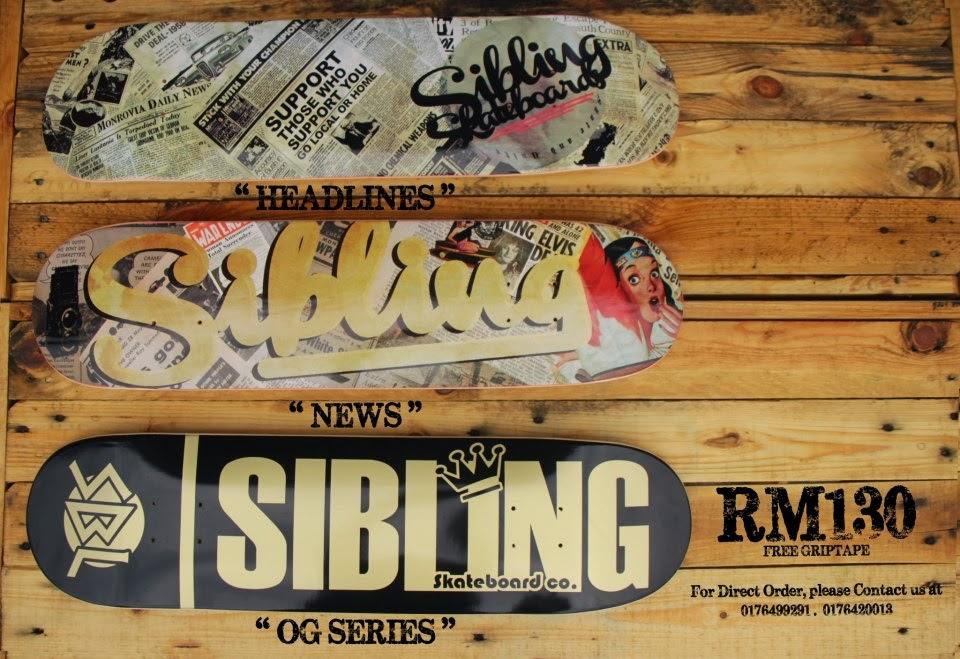 Produk skateboard keluaran Malaysia