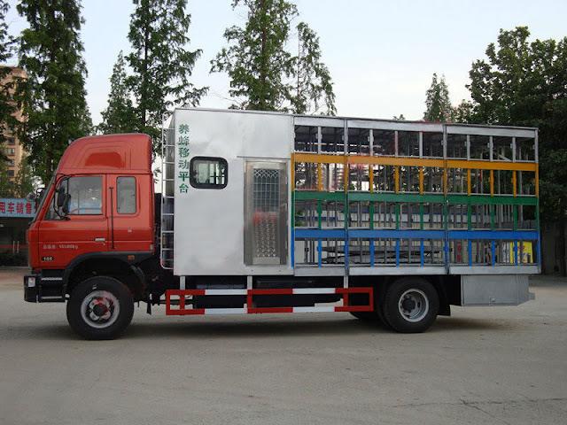 Η Κίνα σχεδιάζει φορτηγά για μελισσοκόμους και τα προβλέπει όλα...
