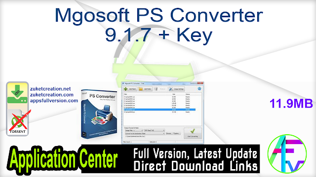 Mgosoft PS Converter 9.1.7 + Key