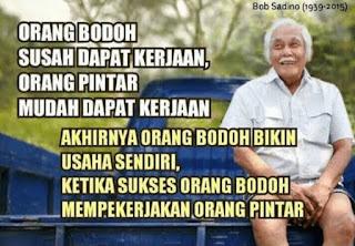 Bob Sadino, Dewa Agribisnis Indonesia. Pesan sebelum meninggal: Bahkan sampah saja bisa dijual
