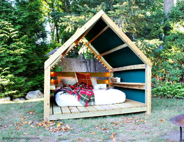 Backyard Cabana Designs : Thats My Letter Build an Outdoor Cabana Lounge