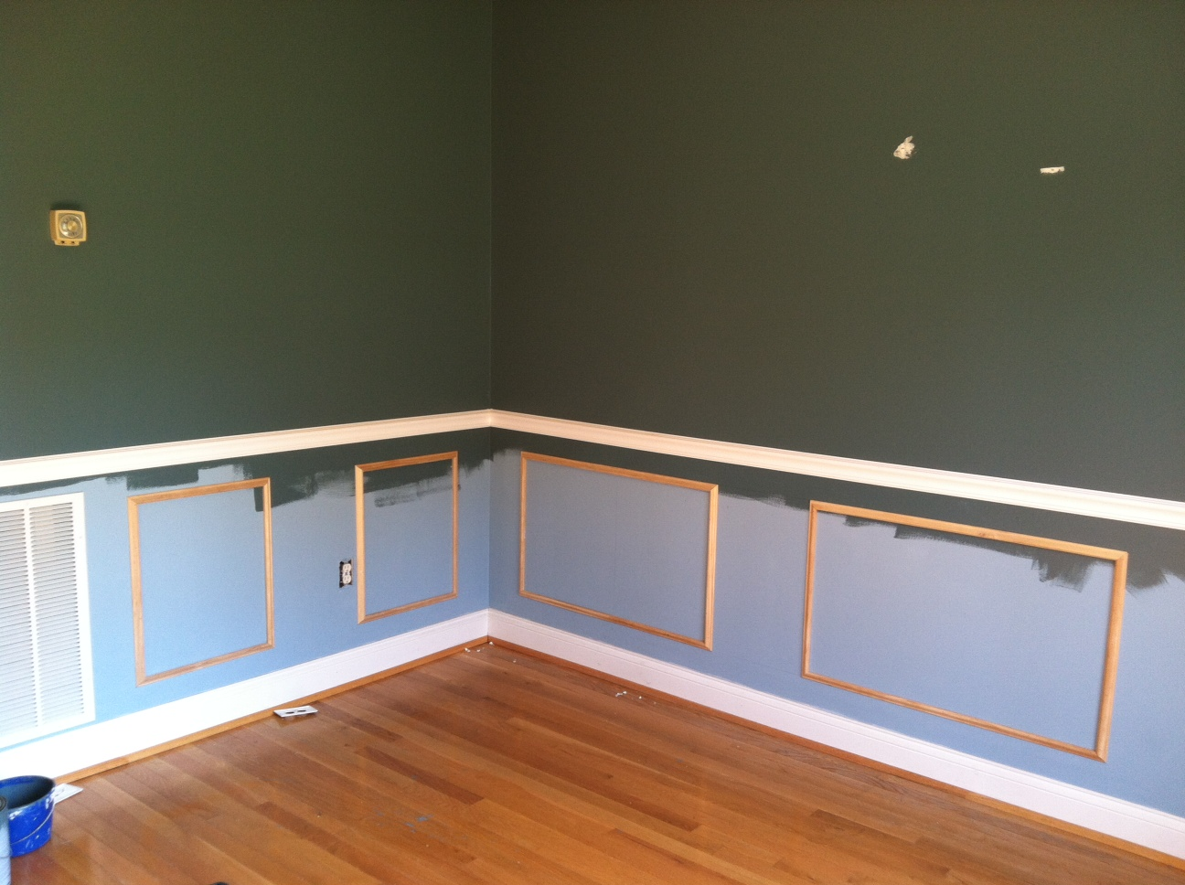 where to nail chair rail red dining room chairs canada the stylist: diy project: wainscoting &