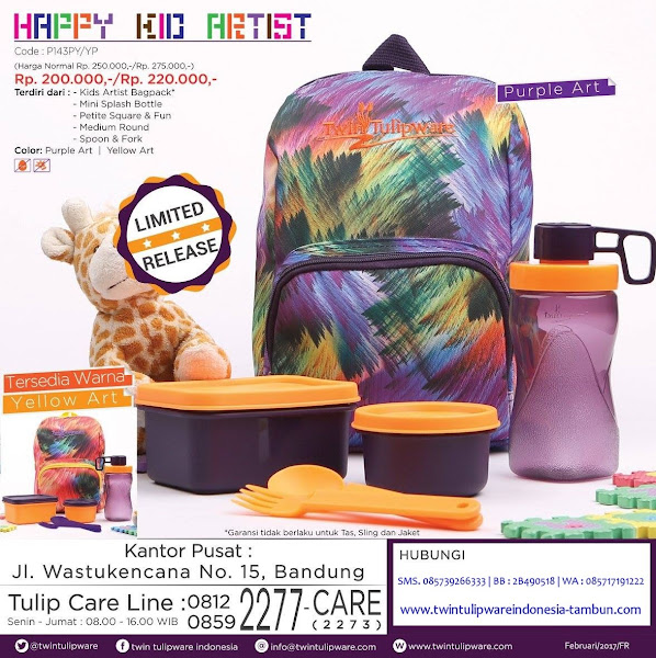 Promo Happy Kid Artist Tulipware April 2017