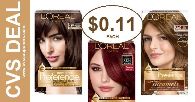 L'Oreal Hair Color CVS Deal $0.11 630-76
