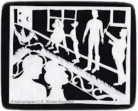 силуэтная иллюстрация, Пратчетт, главный Библиотекарь, орангутан, Ваймс, стража, Сибилла Овнец, Моркоу, Шнобс,