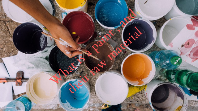 Paint, and raw material, and machinery used in paint manufacture