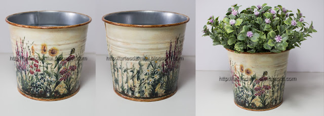 vaso com transferência de imagem