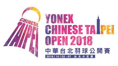 Jadwal Yonex Chinese Taipei Open 2018