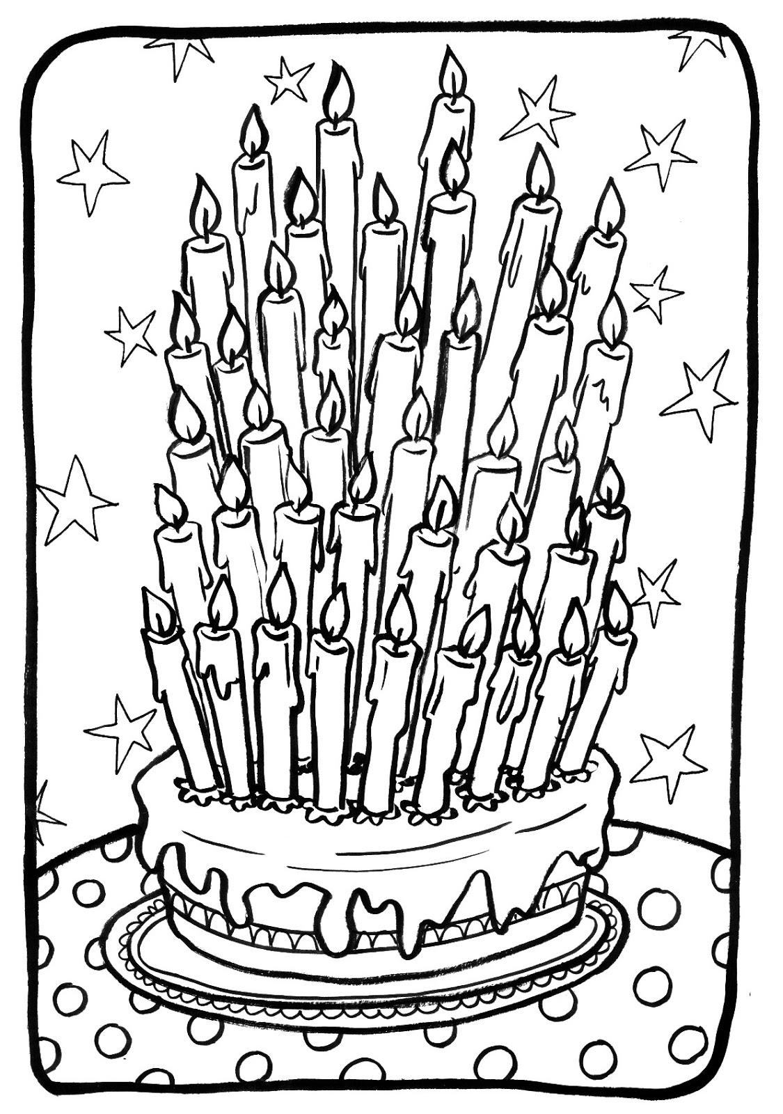 coloriage pour anniversaire | Liberate