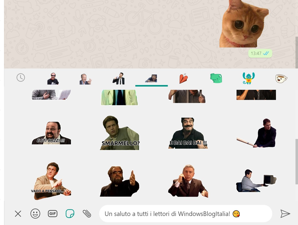 WhatsApp Desktop Windows sticker