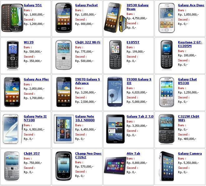 Harga Terbaru Samsung Galaxy Maret 2013 Harga Hp Samsung Galaxy Tipe Hp Samsung Harga Baru Harga Bekas Samsung Galaxy S