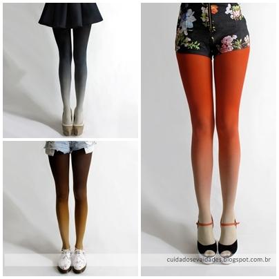 Meia-calça degradê | Ombré Tights