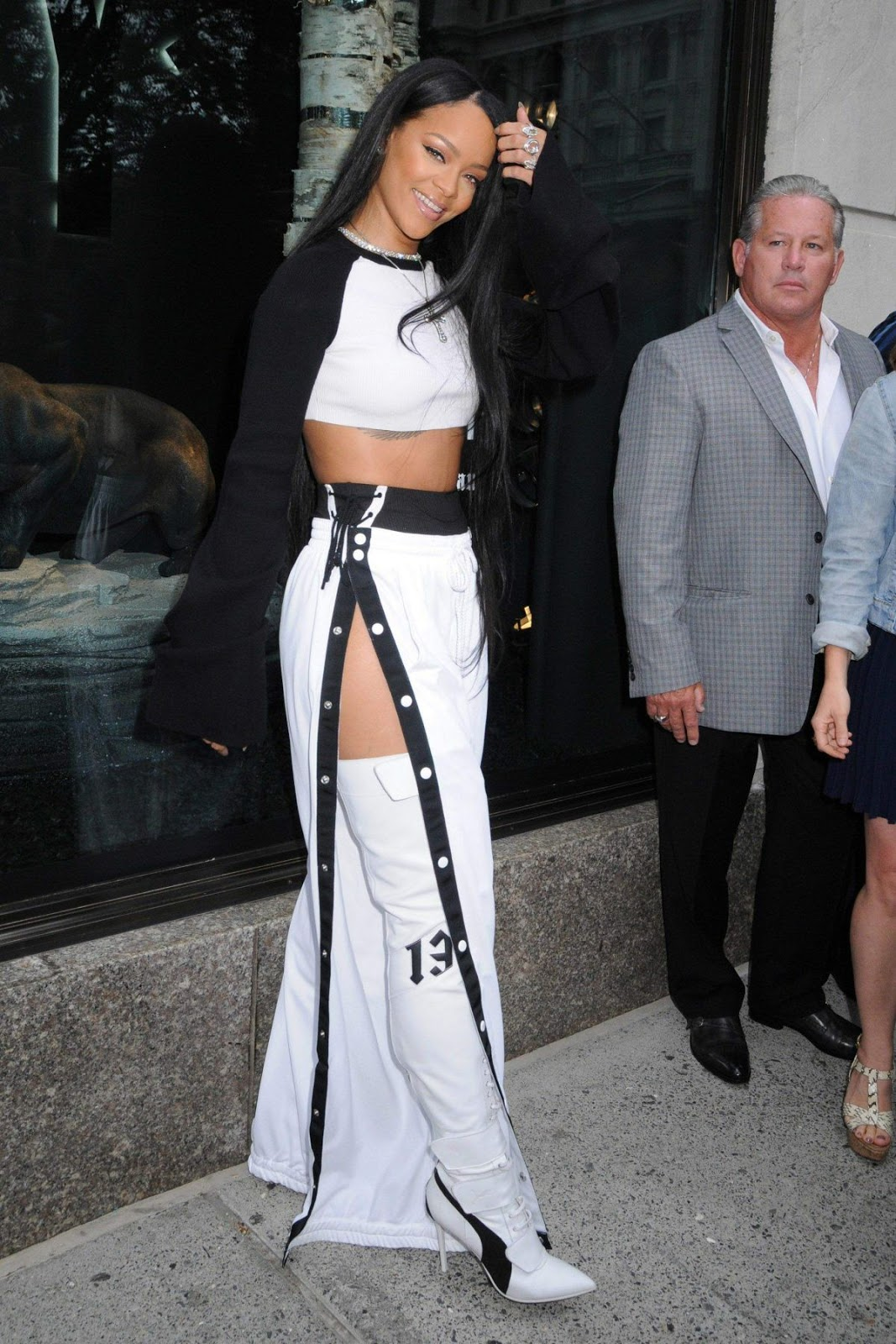 HQ Photos of Rihanna Arrives at Fenty Puma X Rihanna Debut in New York