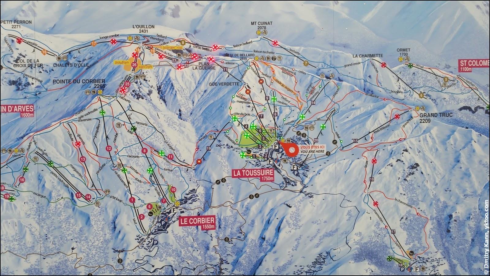 Интерактивная карта курорта.