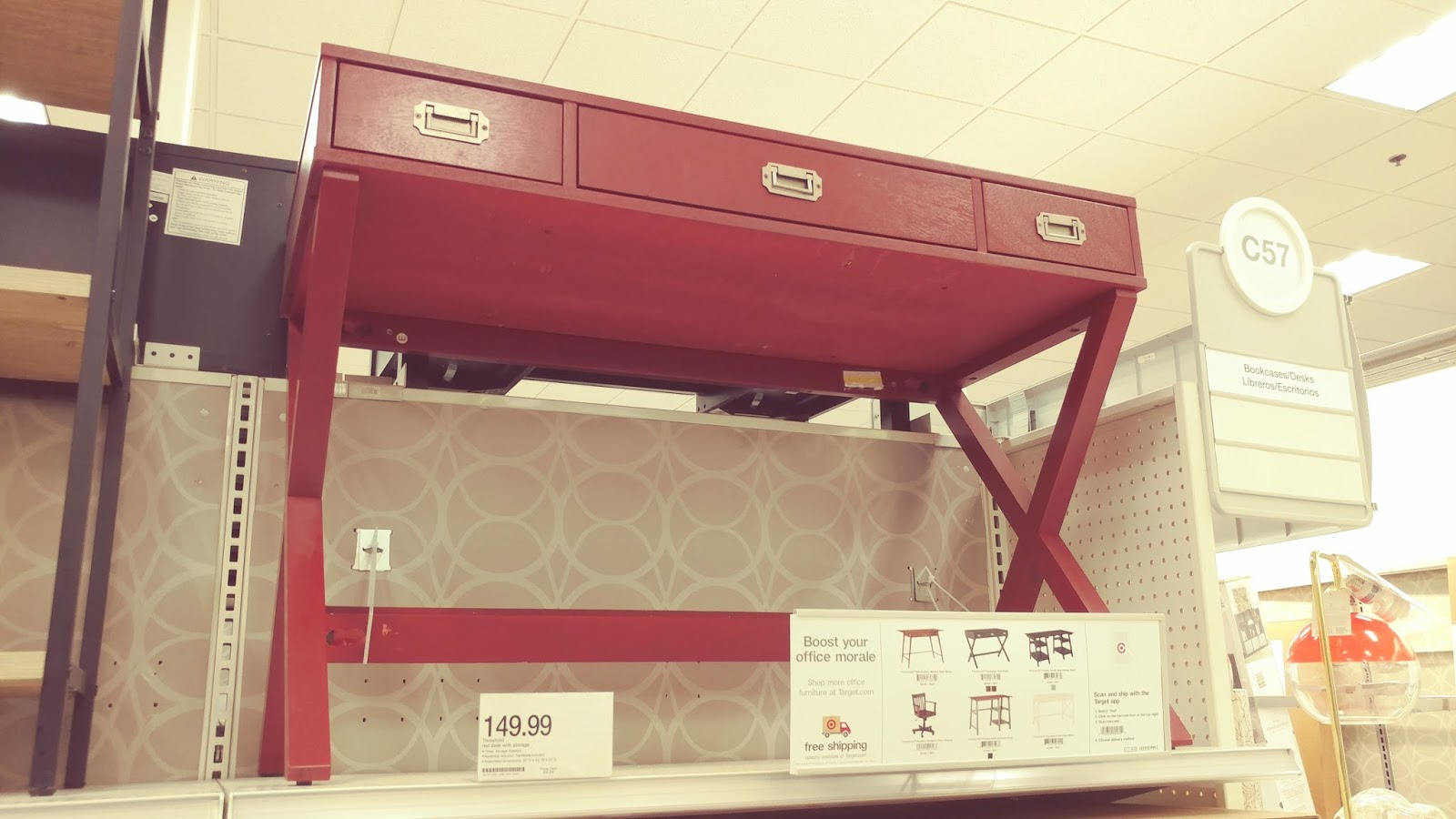 Super Cute Chic Writing Desk at Target  Campaign Desk - Threshold
