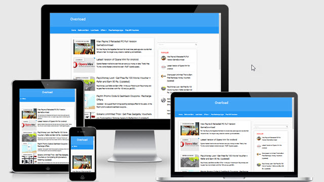 Overload- The Fastest Material Design Blogger Template