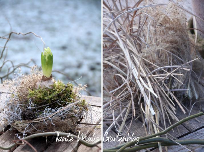 Nest aus Gras selber machen