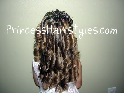 Superb Curling Iron Ringlets Hairstyles For Girls Princess Hairstyles Short Hairstyles Gunalazisus