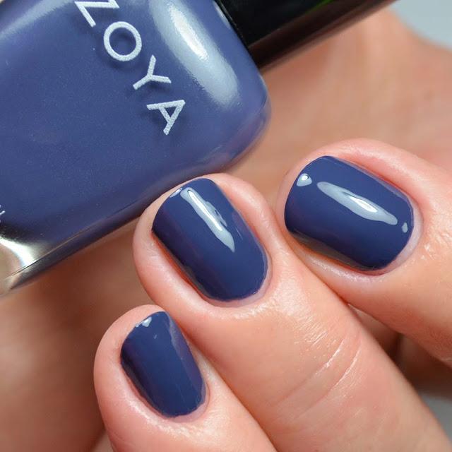 indigo creme nail polish swatch