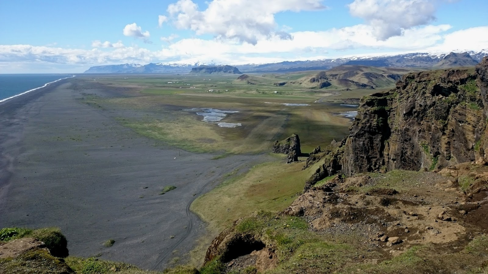 widok z Dyrholaey, Dyrholaey, południowa Islandia, atrakcje Islandii