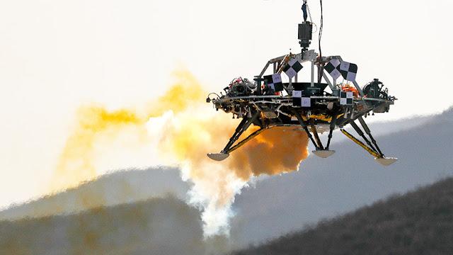 China prueba con éxito el módulo de descenso para su primera misión a Marte en 2020