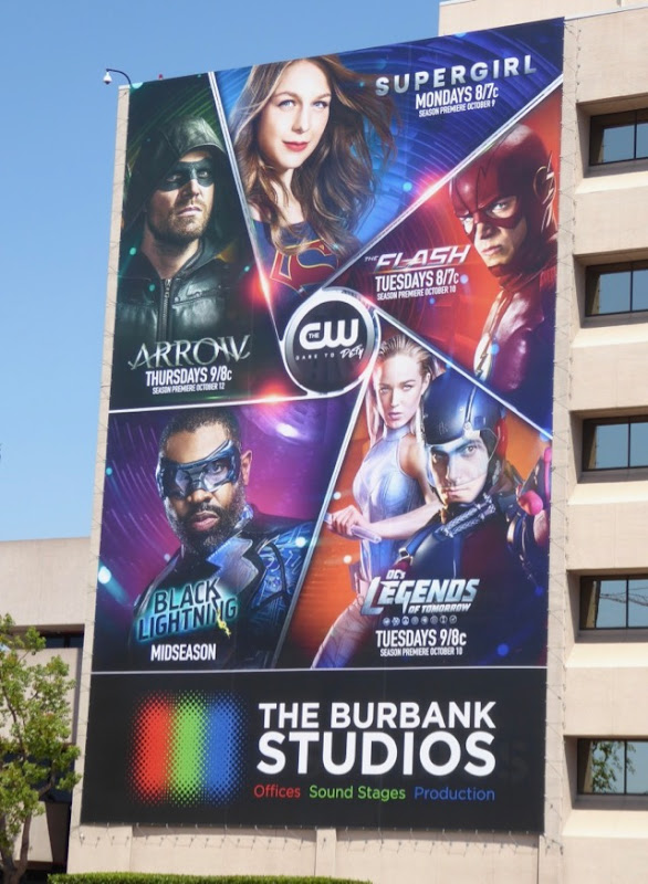 CW DC superhero shows billboard