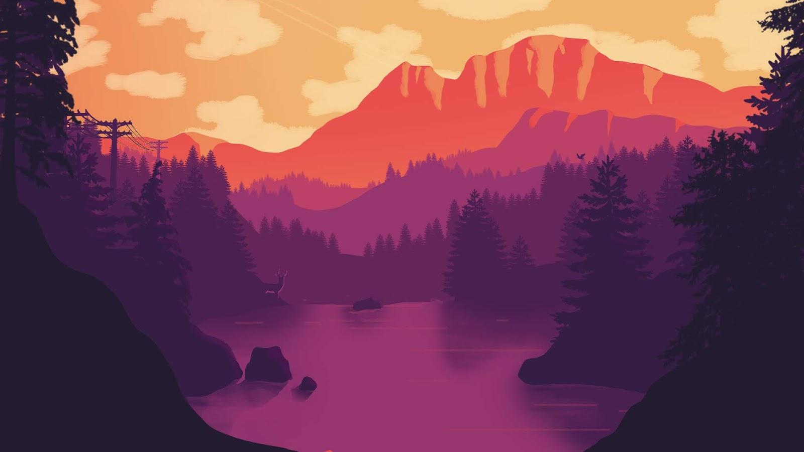 Desktop Wallpaper Minimal Landscape Cool Wallpapers