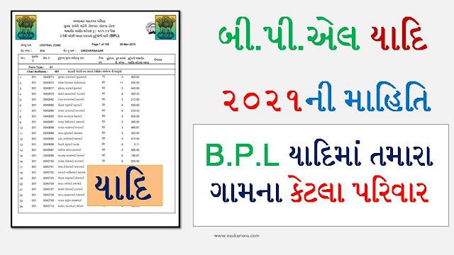 BPL List Gujarat 2021 @ses2002.guj.nic.in