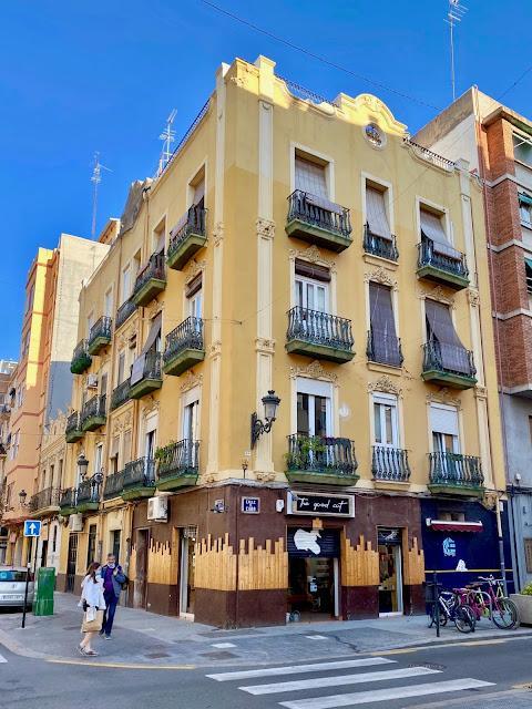 Colourful buildings in Russafa region of Valencia, Spain