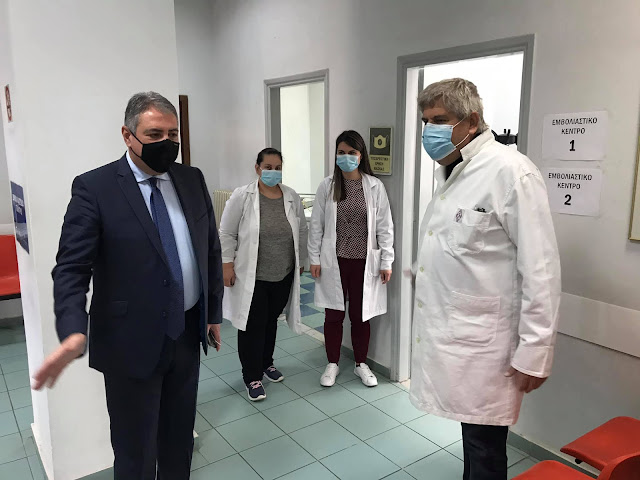 Τα Νοσοκομεία της Αργολίδας επισκέφθηκε ο διοικητής της 6ης ΥΠΕ