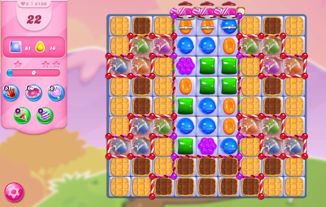 Candy Crush Saga level 6190