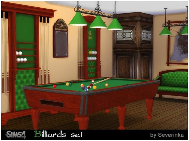 he Sims 4, предметы для The Sims 4, Симс 4, Severinka_, моды для The Sims 4, мебель для The Sims 4, декор для The Sims 4, Severinka_, для Sims 4 бильярд для Sims 4, бильярдная для Sims 4, бильярдный стол, развлечения, декор для бильярдной,