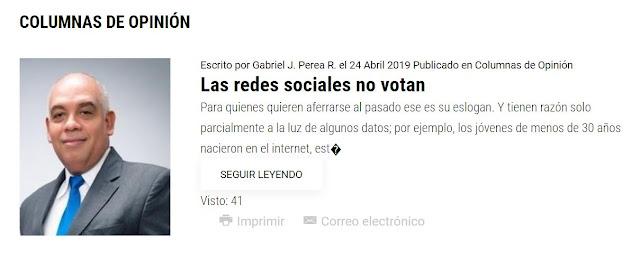Las redes sociales no votan