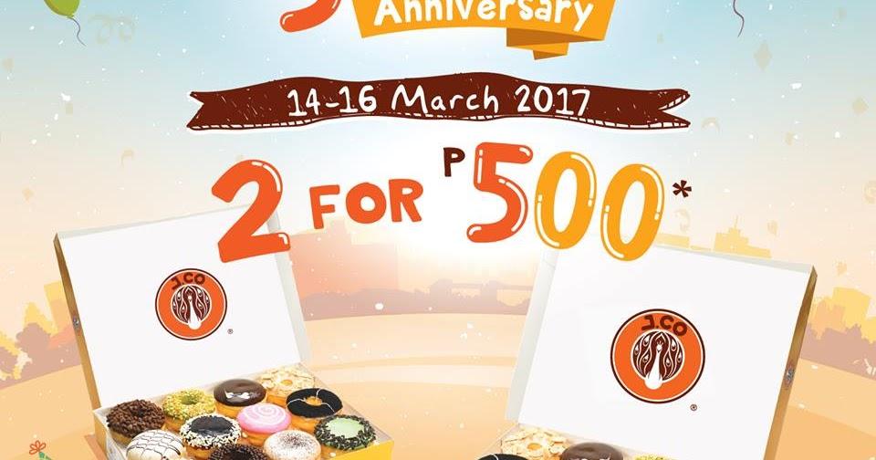 Manila Shopper: JCo 5th Year Anniversary Promo: Mar 2017