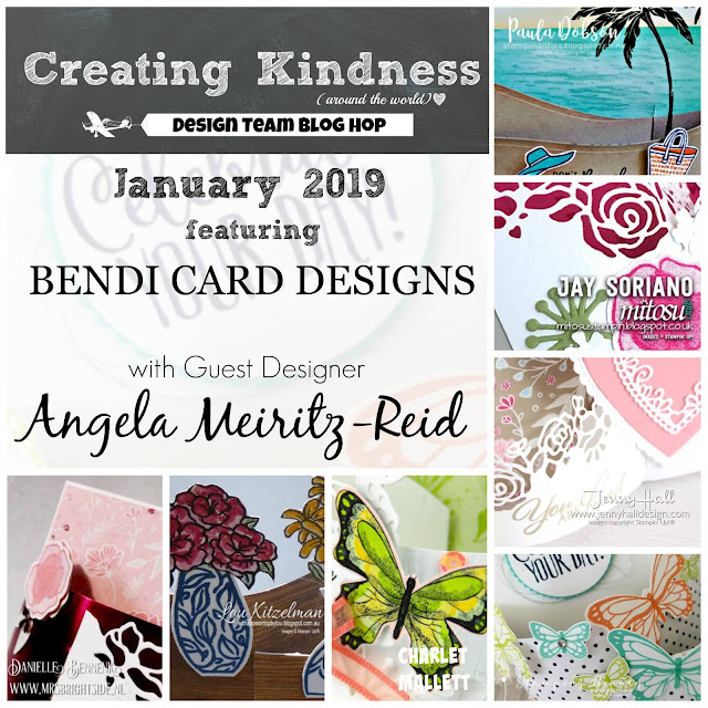Bendi Fold Card Ideas from the Creating Kindness Design Team Blog Hop Jan 2019