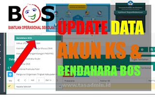 update data bendahara bos dan KS dapodik