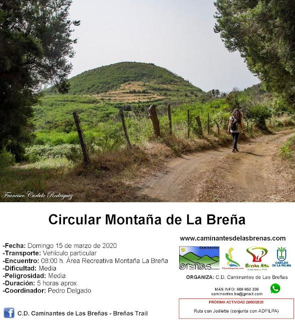 Caminantes de Las Breñas: Domingo 15 de Marzo: Circular Montaña de La Breña