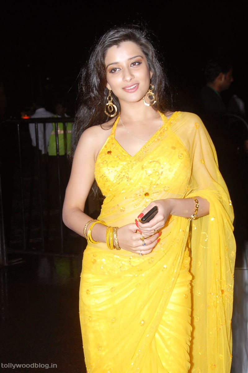Madhurima Yellow Saree