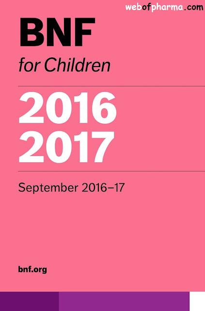 BNF for Children 2016-2017 (British National Formulary)