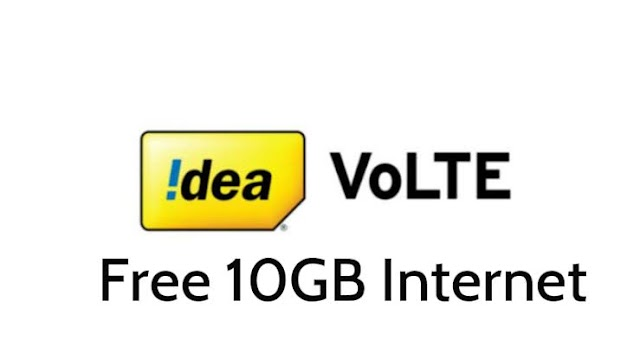Idea – Get Free 10 GB 4G Data for 7 days (Selected users)