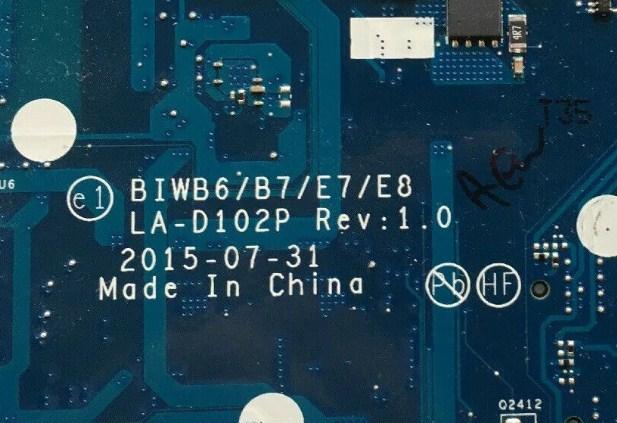 LA-D102P Rev 1.0 BIWB6-B7-E7-E8 Lenovo B51-80 E51-80 E41-80 Bios